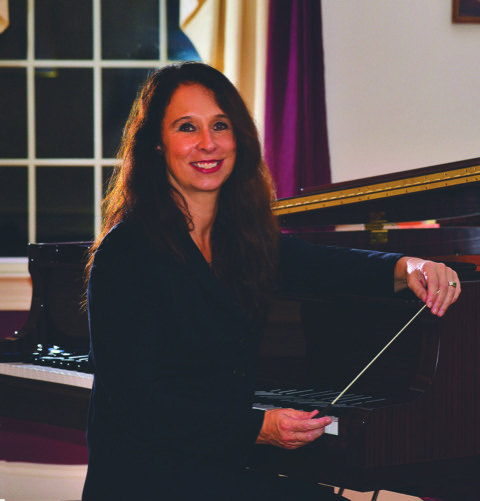 Cornelia Laemmli-Orth, music director of the Symphony of the Mountains.