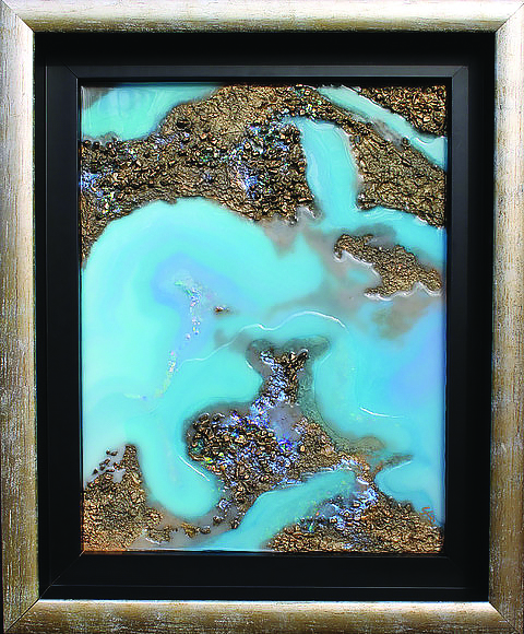 """Aussie Opal,"" by Bluff City artist, Susan Connelly McClelland"