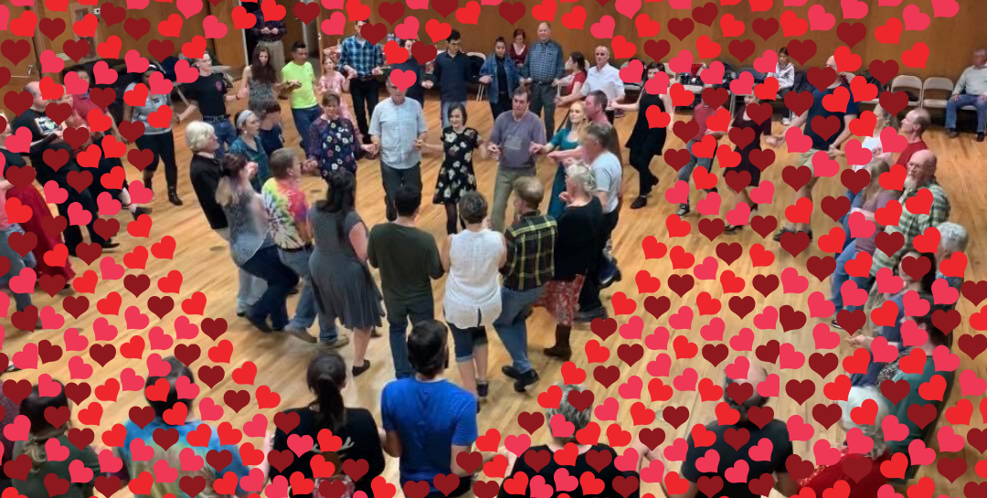 A Community Valentine Contra Dance Saturday, Feb. 15, at 7:30 p.m.