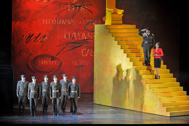 "A scene from Handel's ""Agrippina."" Photo: Antoni Bofill / Barcelona's Liceu"